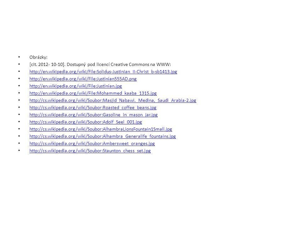 Obrázky: [cit. 2012- 10-10]. Dostupný pod licencí Creative Commons na WWW: